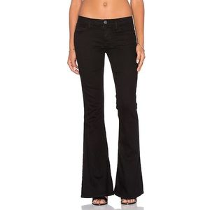Current/Elliott Black Low Rise The Low Bell Jeans